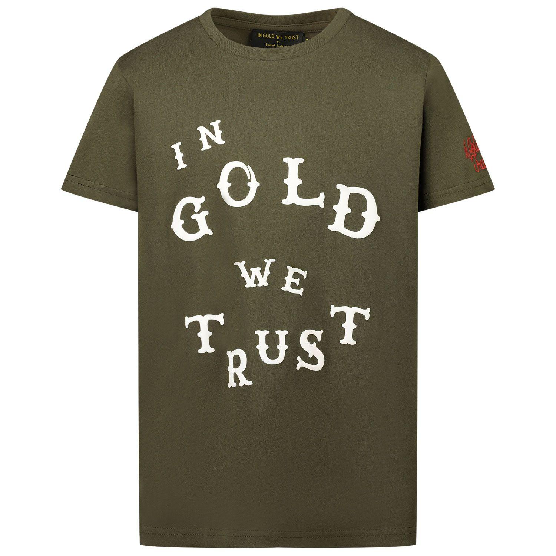 Afbeelding van in Gold We Trust WESTERN SHIRT kinder t-shirt groen