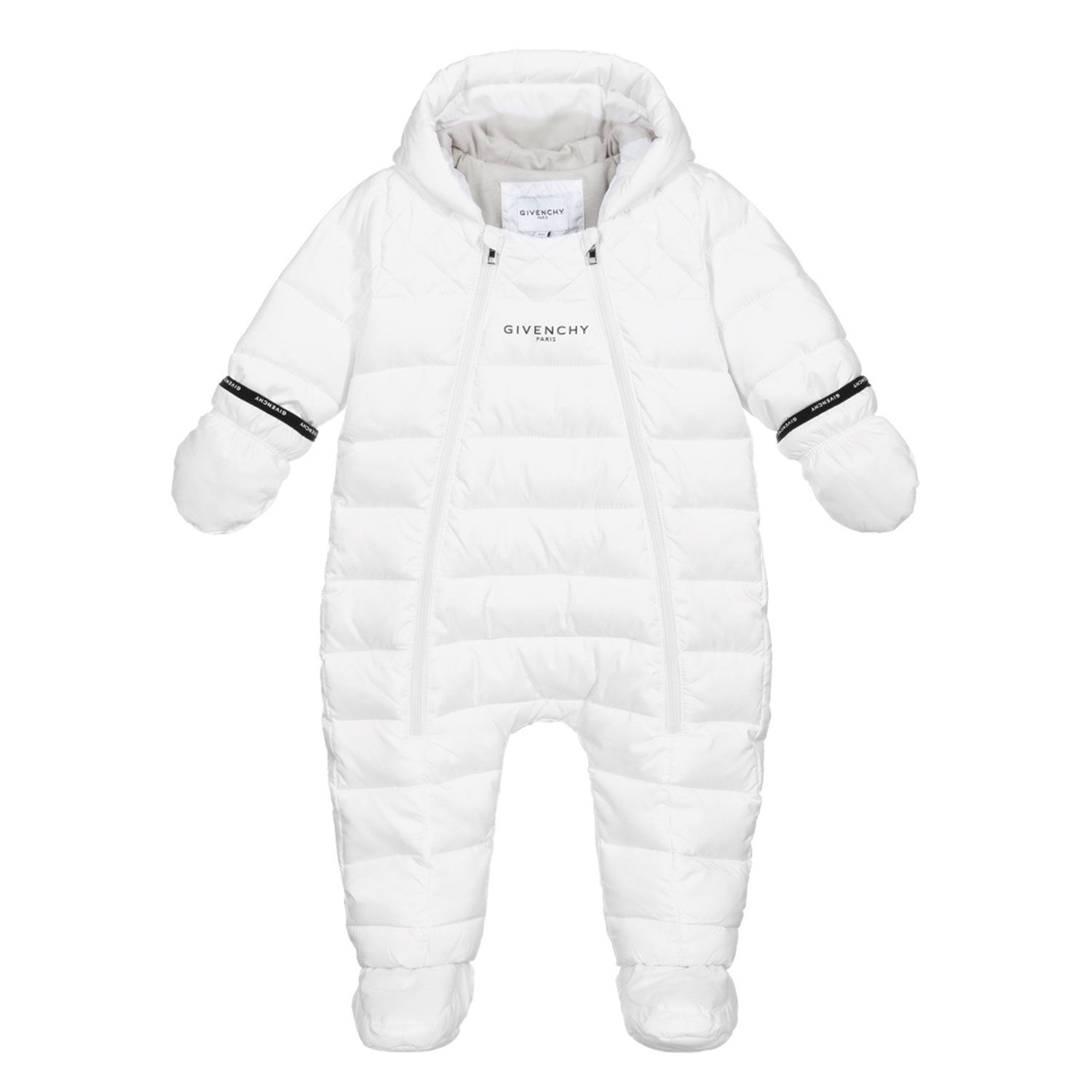 Picture of Givenchy H96017 baby snowsuit white