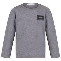 Picture of Dolce & Gabbana L1JT7M G7OLK baby shirt grey
