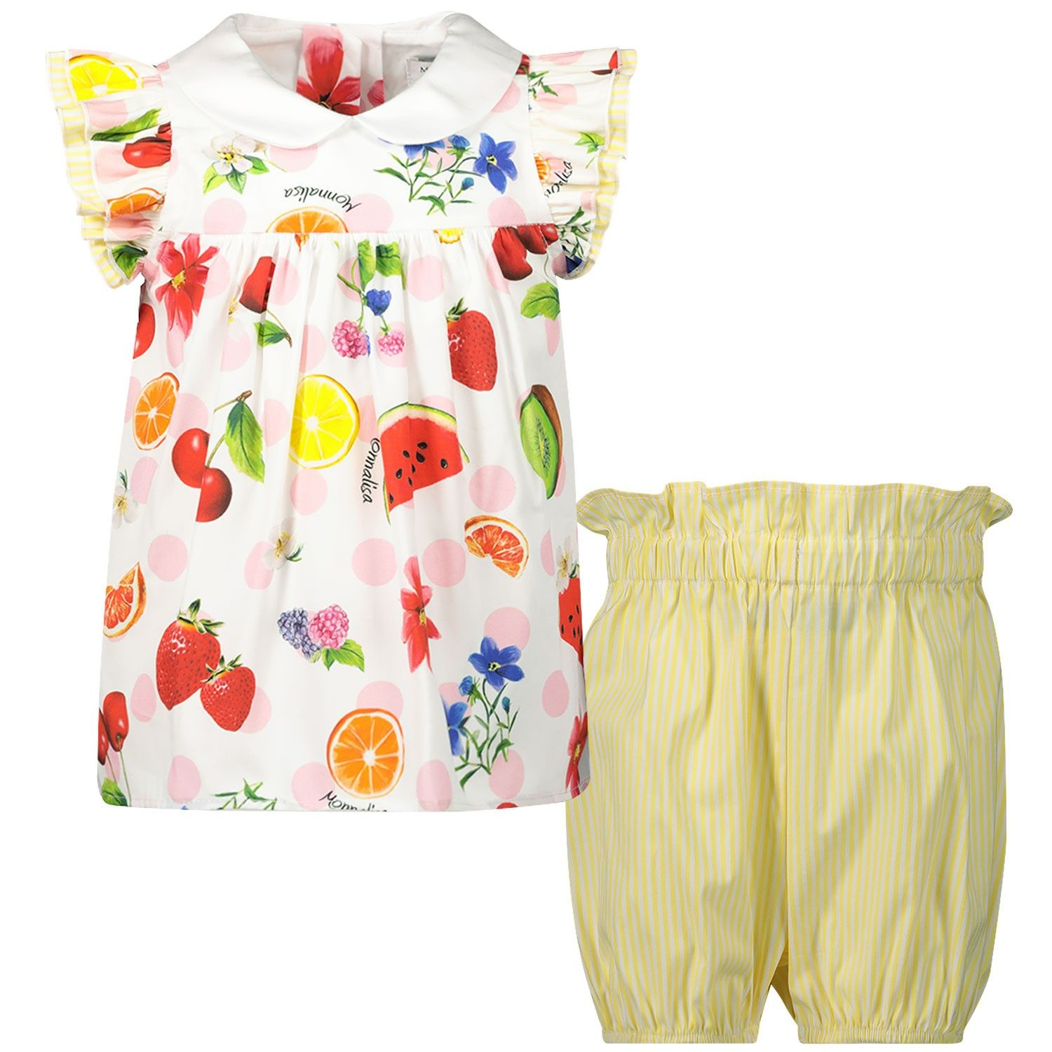 Picture of MonnaLisa 315502 baby set yellow