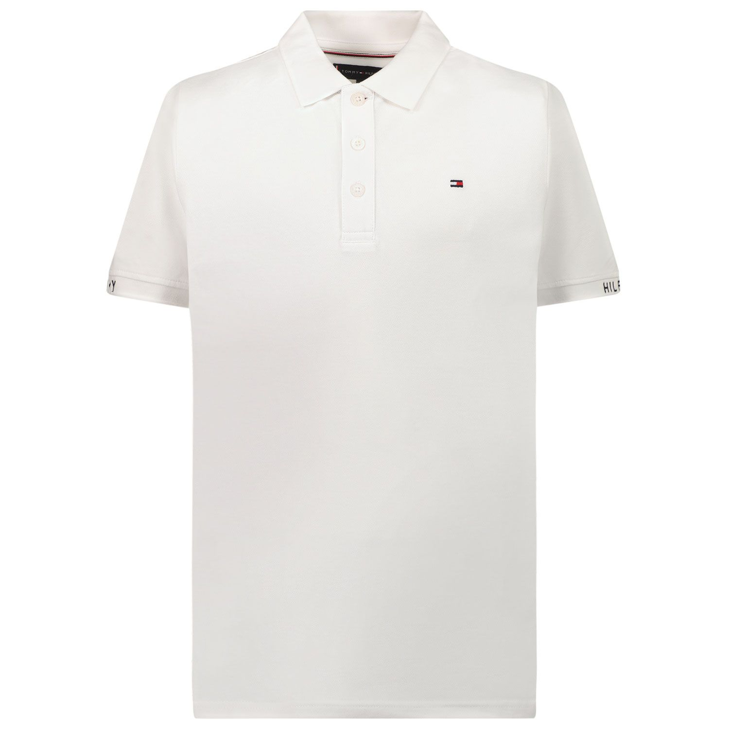 Picture of Tommy Hilfiger KB0KB06538 kids polo shirt white