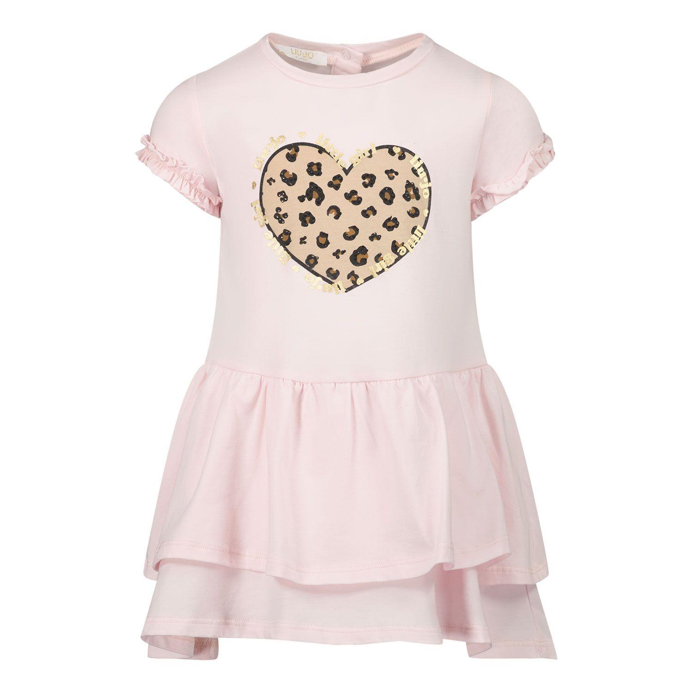 Picture of Liu Jo HA1041 baby dress light pink