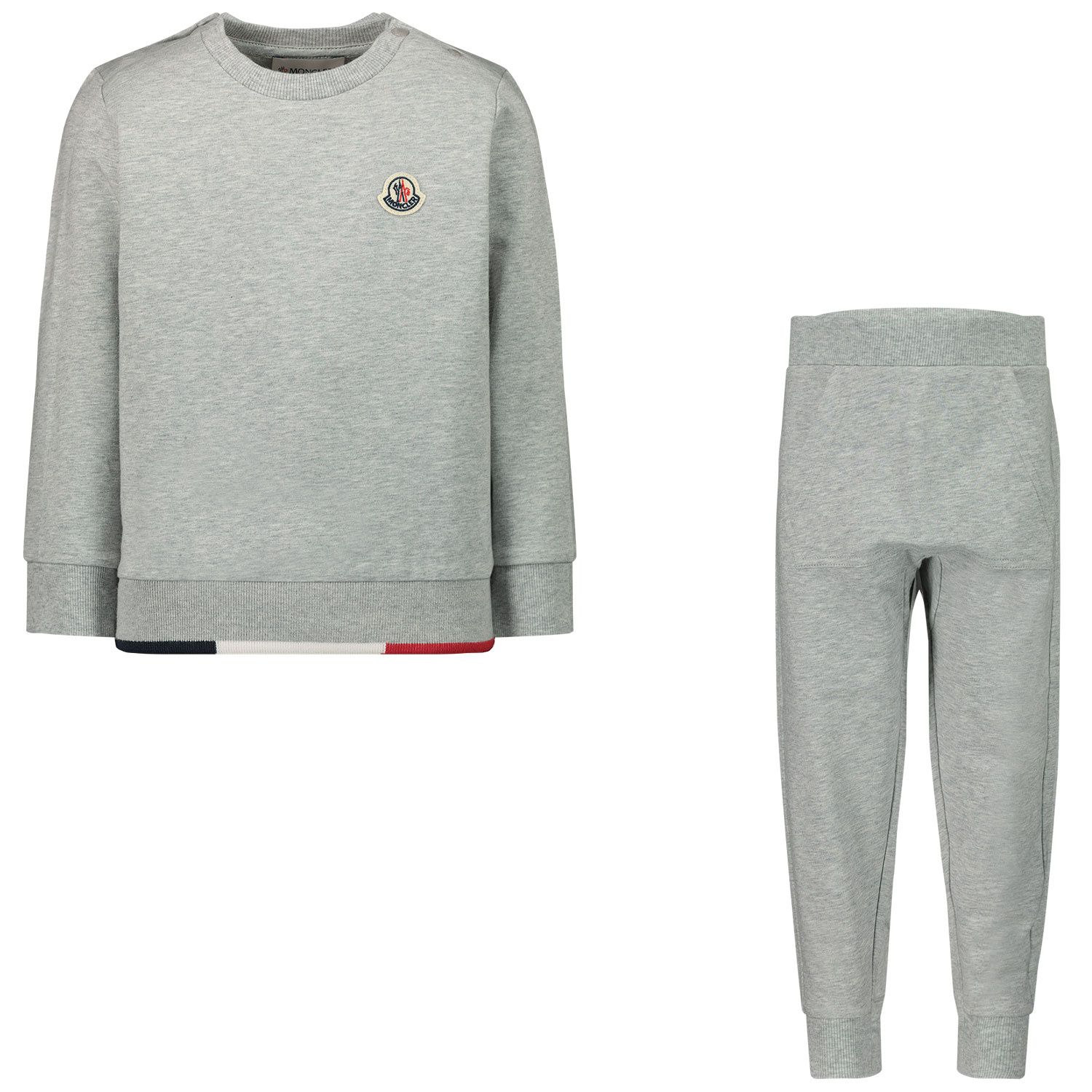 Picture of Moncler 8M73720 baby sweatsuit light gray