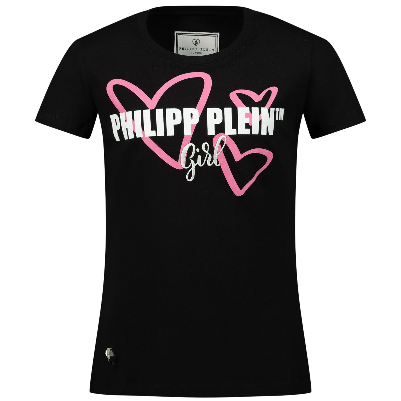Picture of Philipp Plein GTK0665 kids t-shirt black
