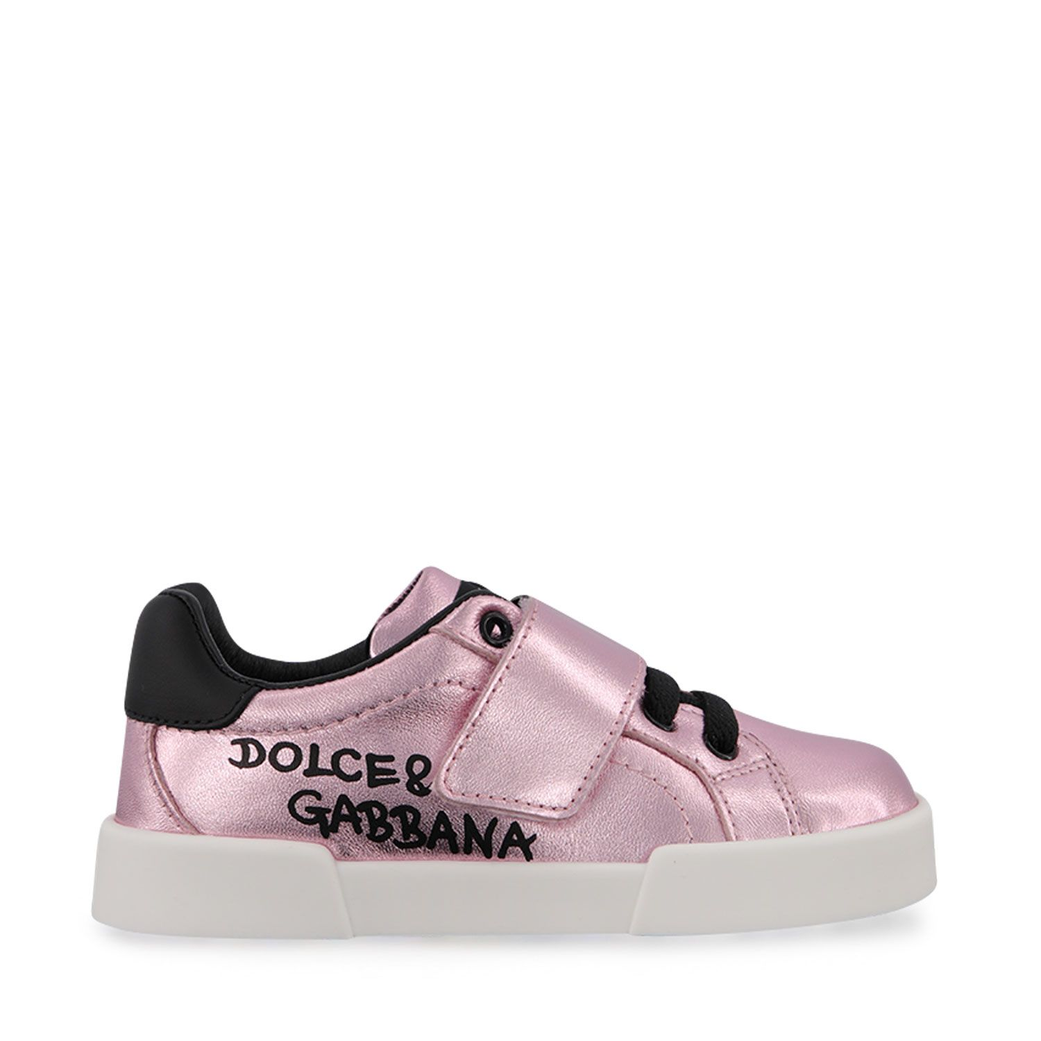 Picture of Dolce & Gabbana DN0155 AN442 kids sneakers pink