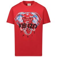 Picture of Kenzo KR10638 kids t-shirt red