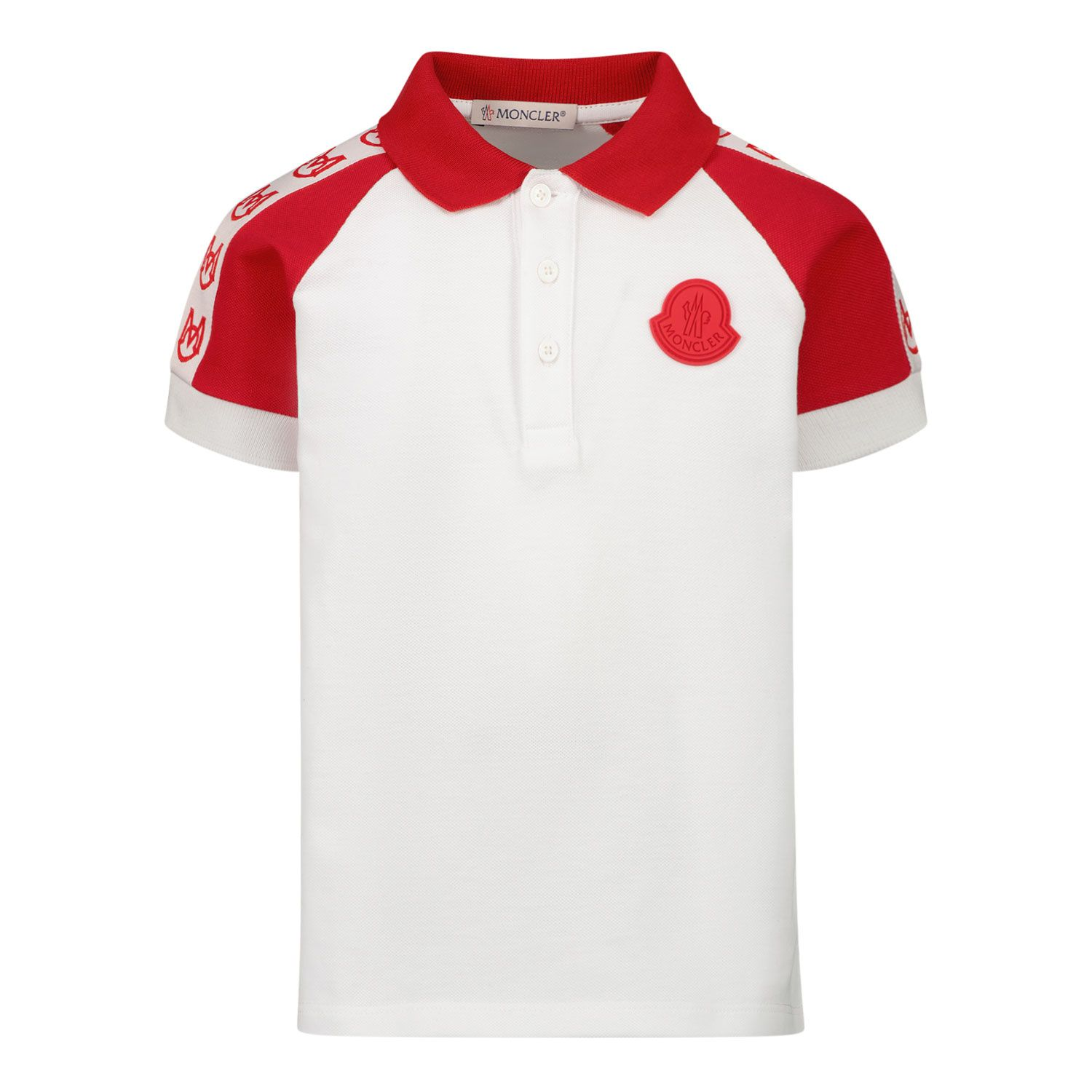 Picture of Moncler 8A70520 baby poloshirt white