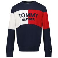 Picture of Tommy Hilfiger KB0KB06375 kids sweater navy