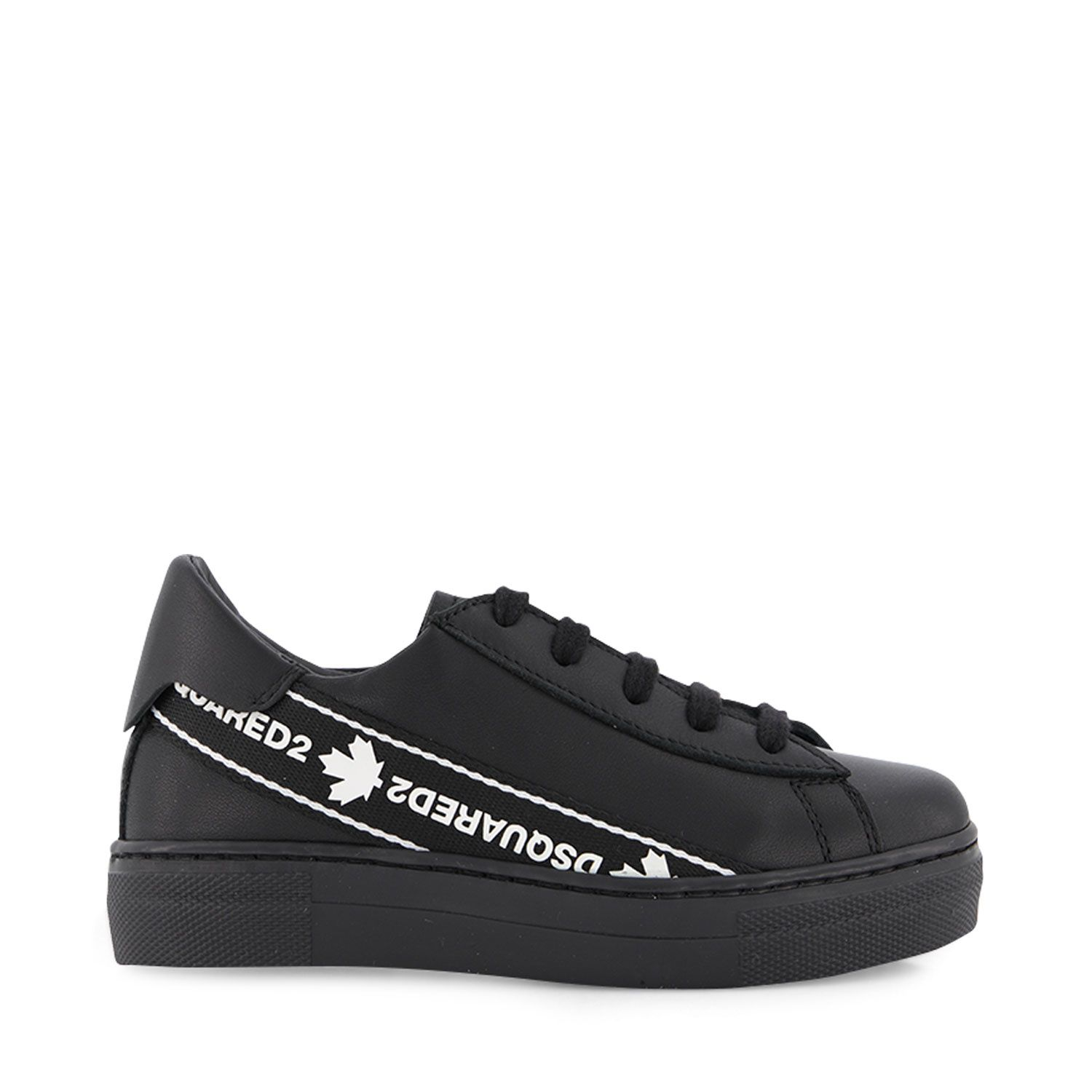 Picture of Dsquared2 65136 kids sneakers black
