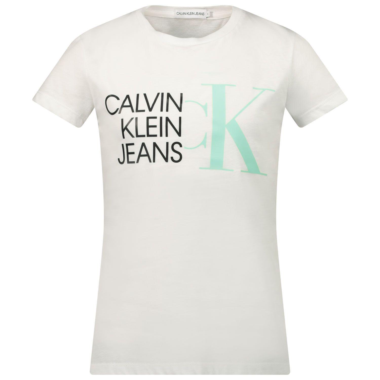 Afbeelding van Calvin Klein IG0IG00888 kinder t-shirt wit