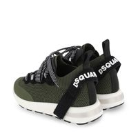Picture of Dsquared2 67052 kids sneakers army