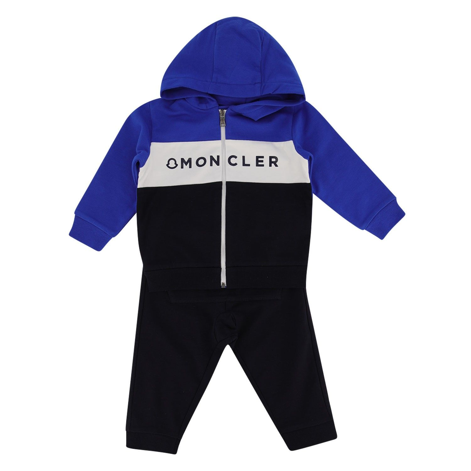 Picture of Moncler 8814605 baby sweatsuit cobalt blue