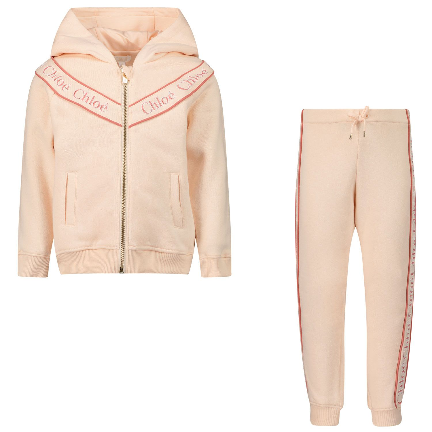 Picture of Chloé C08041 baby sweatsuit light pink