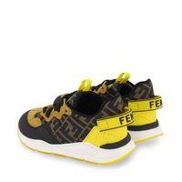 Picture of Fendi JMR363 AEGR kids sneakers brown