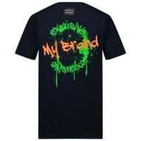 Picture of My Brand 3X21001A0018 kids t-shirt navy