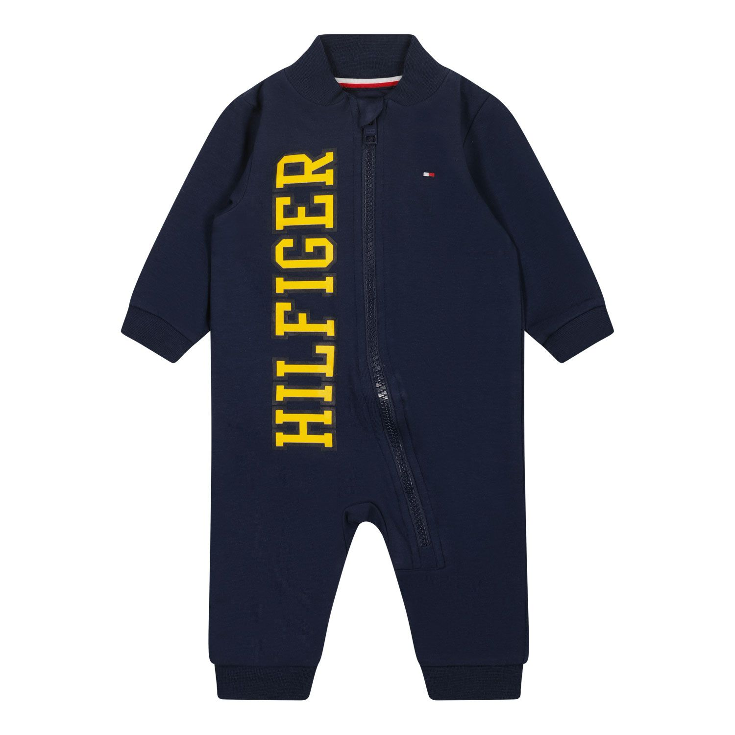 Picture of Tommy Hilfiger KN0KN01220 baby playsuit navy