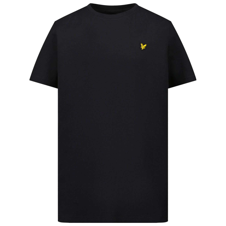 Picture of Lyle & Scott LSC0003S kids t-shirt black