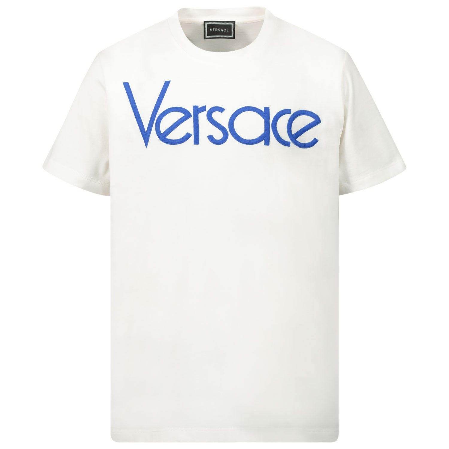 Picture of Versace YD000211 kids t-shirt white