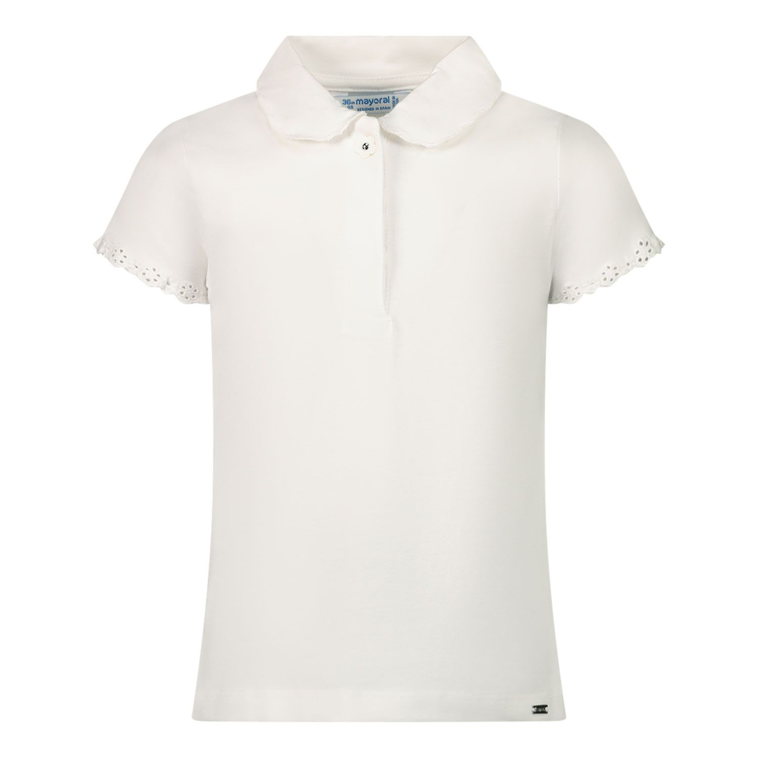 Afbeelding van Mayoral 1176 baby polo wit