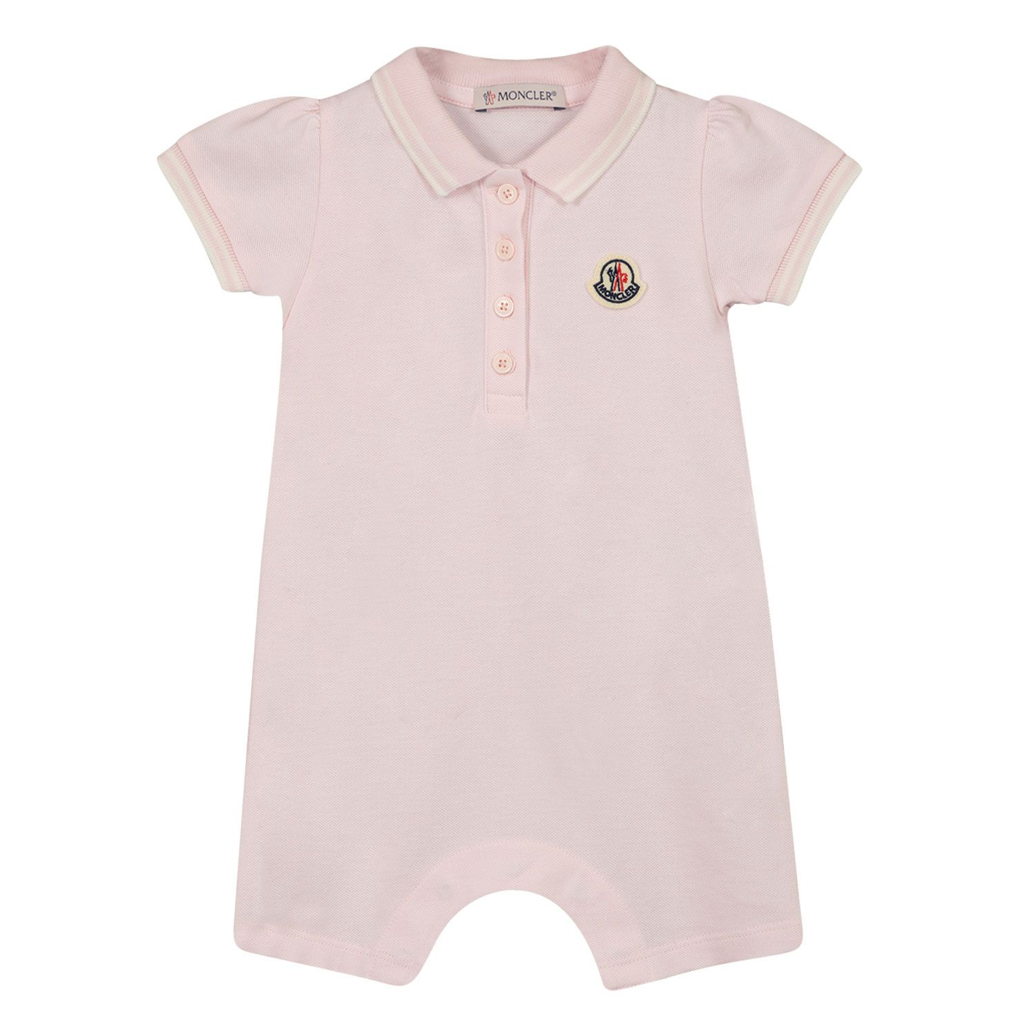 Picture of Moncler 8L70010 baby playsuit light pink