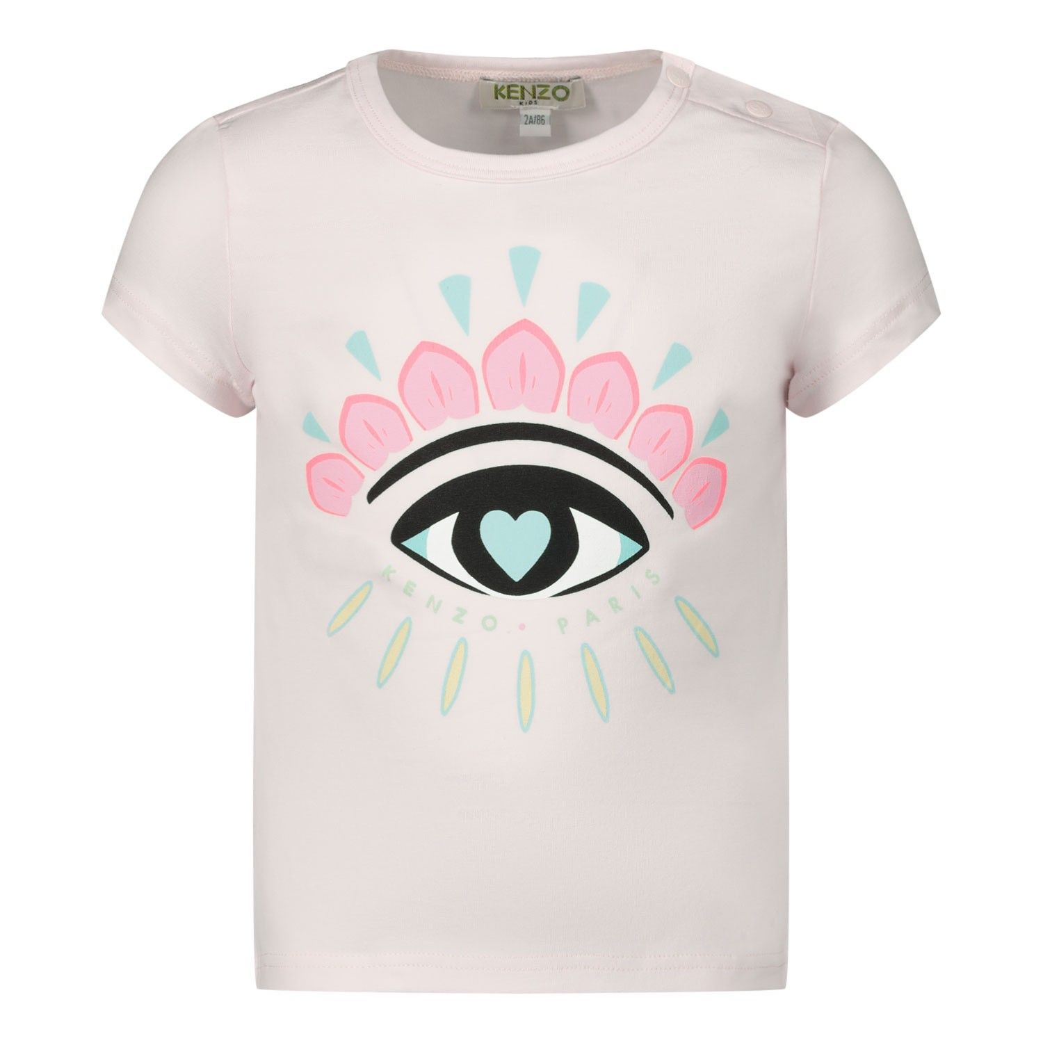 Picture of Kenzo 10017 baby shirt light pink