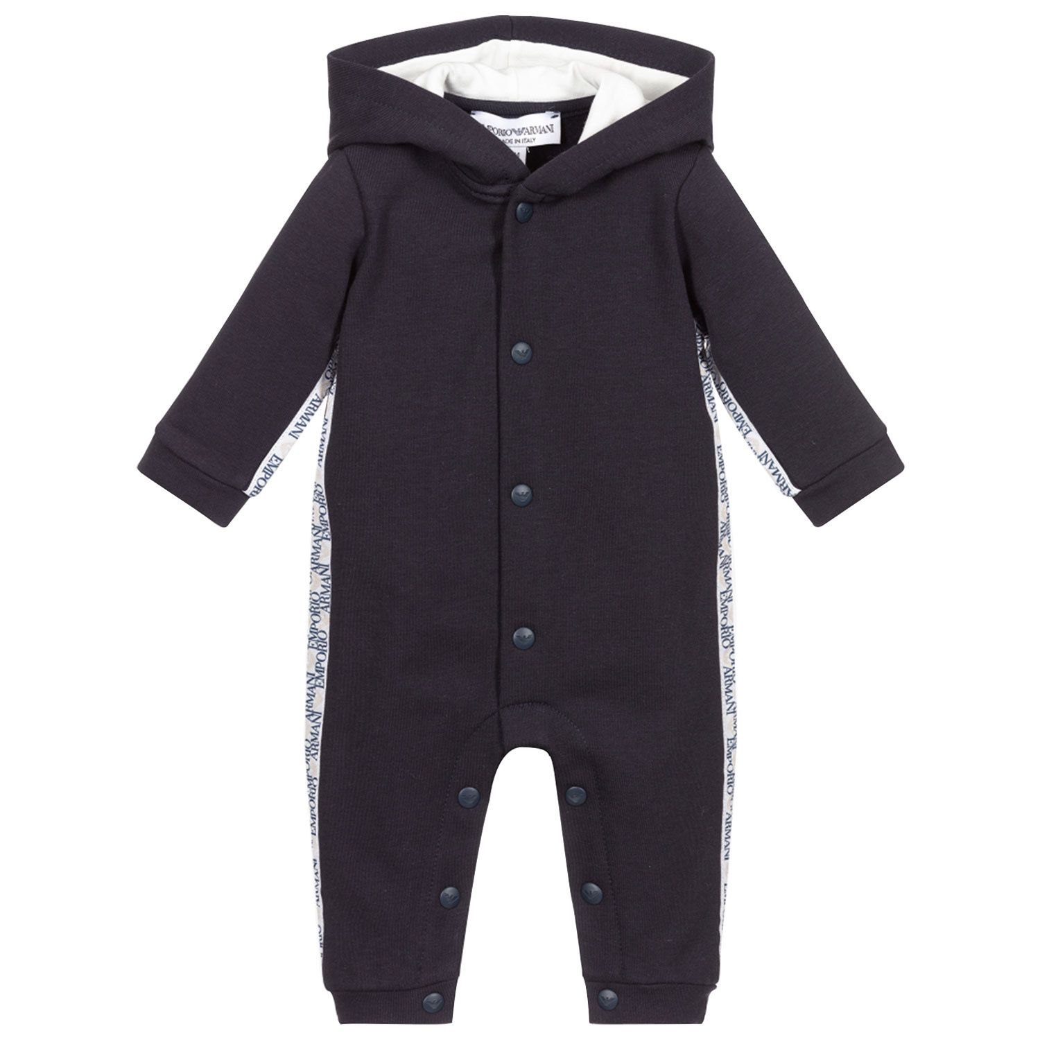 Picture of Armani 6KND22 baby playsuit navy