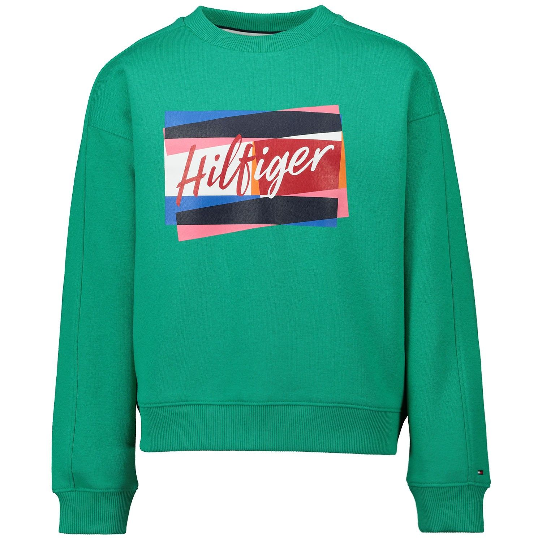 Picture of Tommy Hilfiger KG0KG05220 kids sweater green