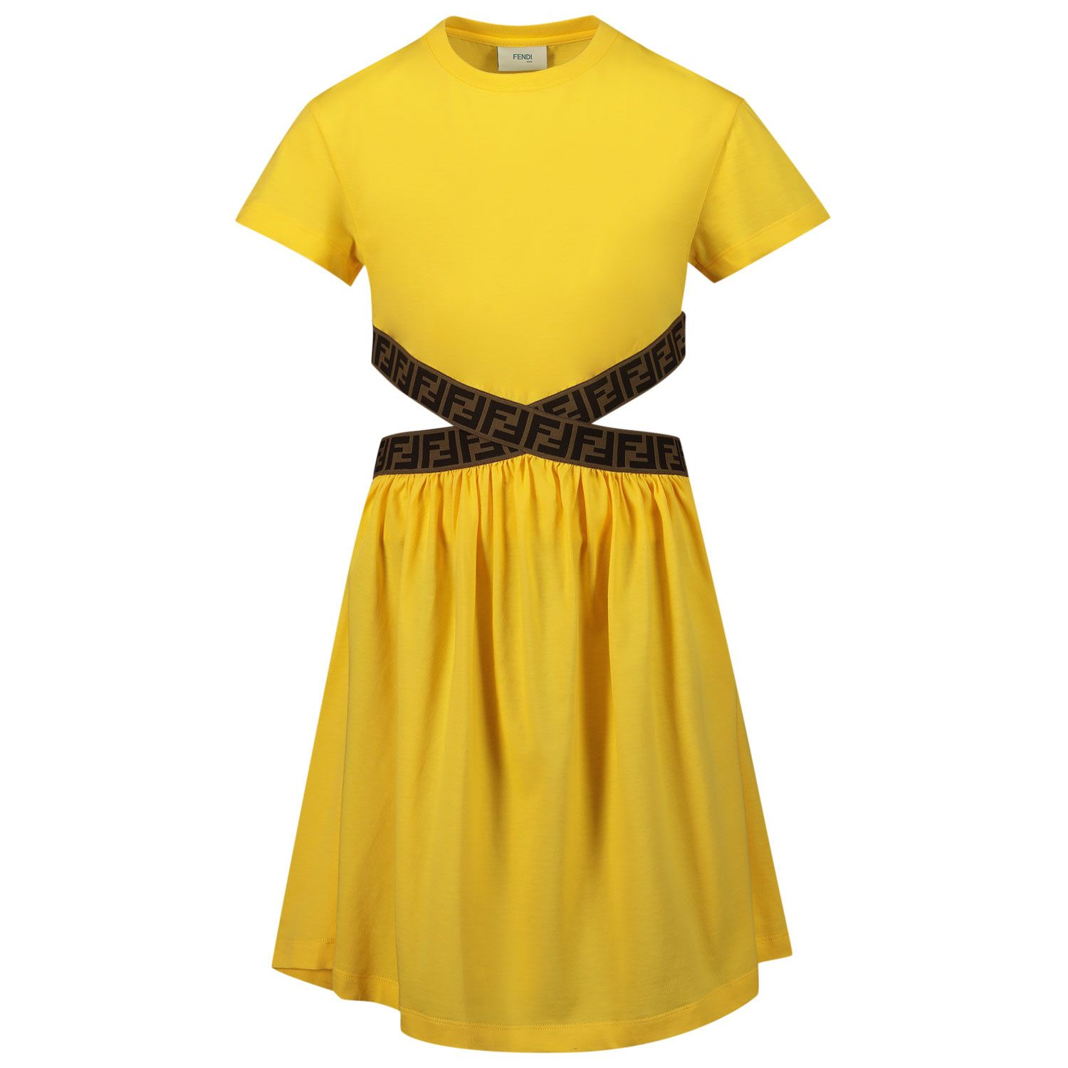 Picture of Fendi JFB443 7AJ kids dress yellow