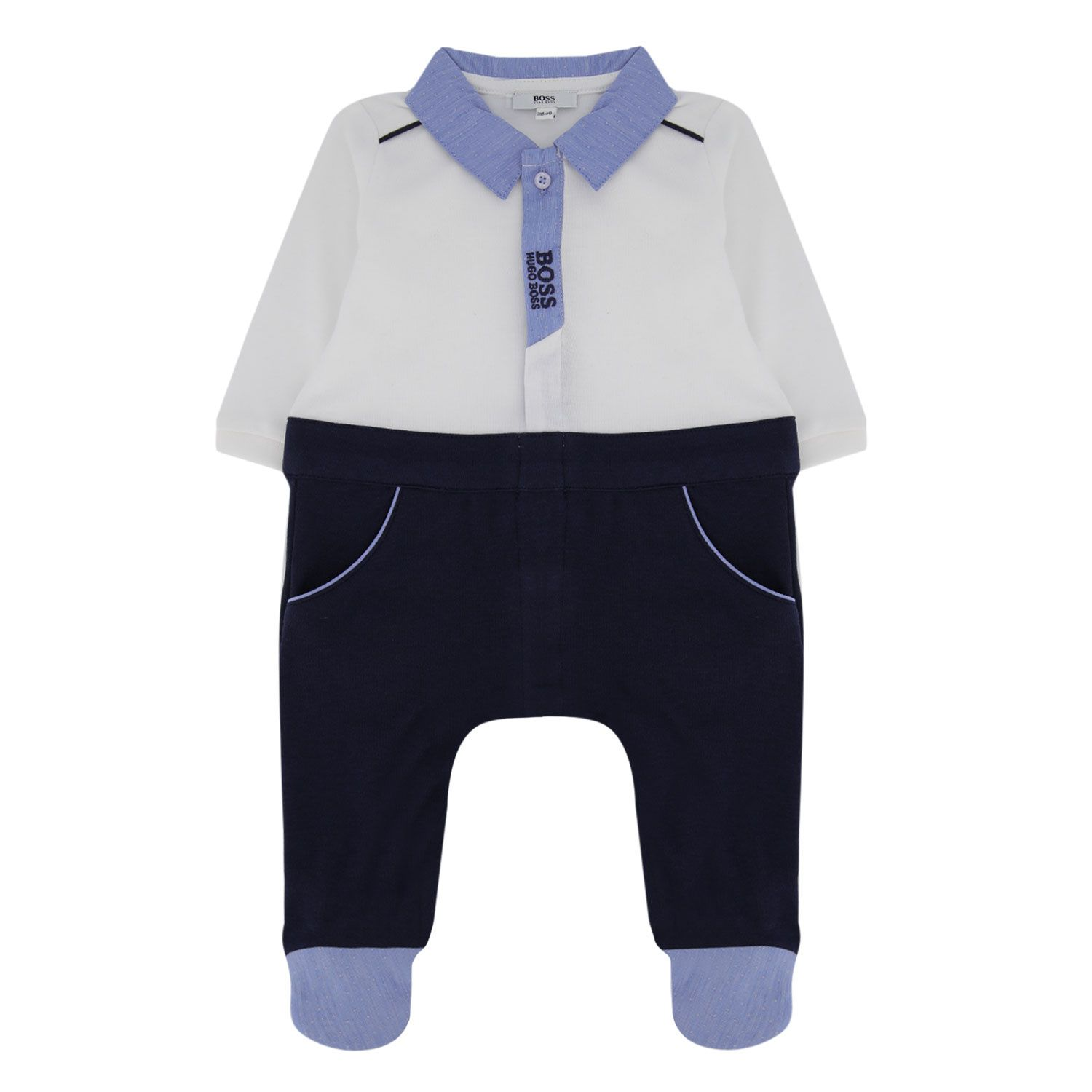 Picture of Boss J97165 baby playsuit navy
