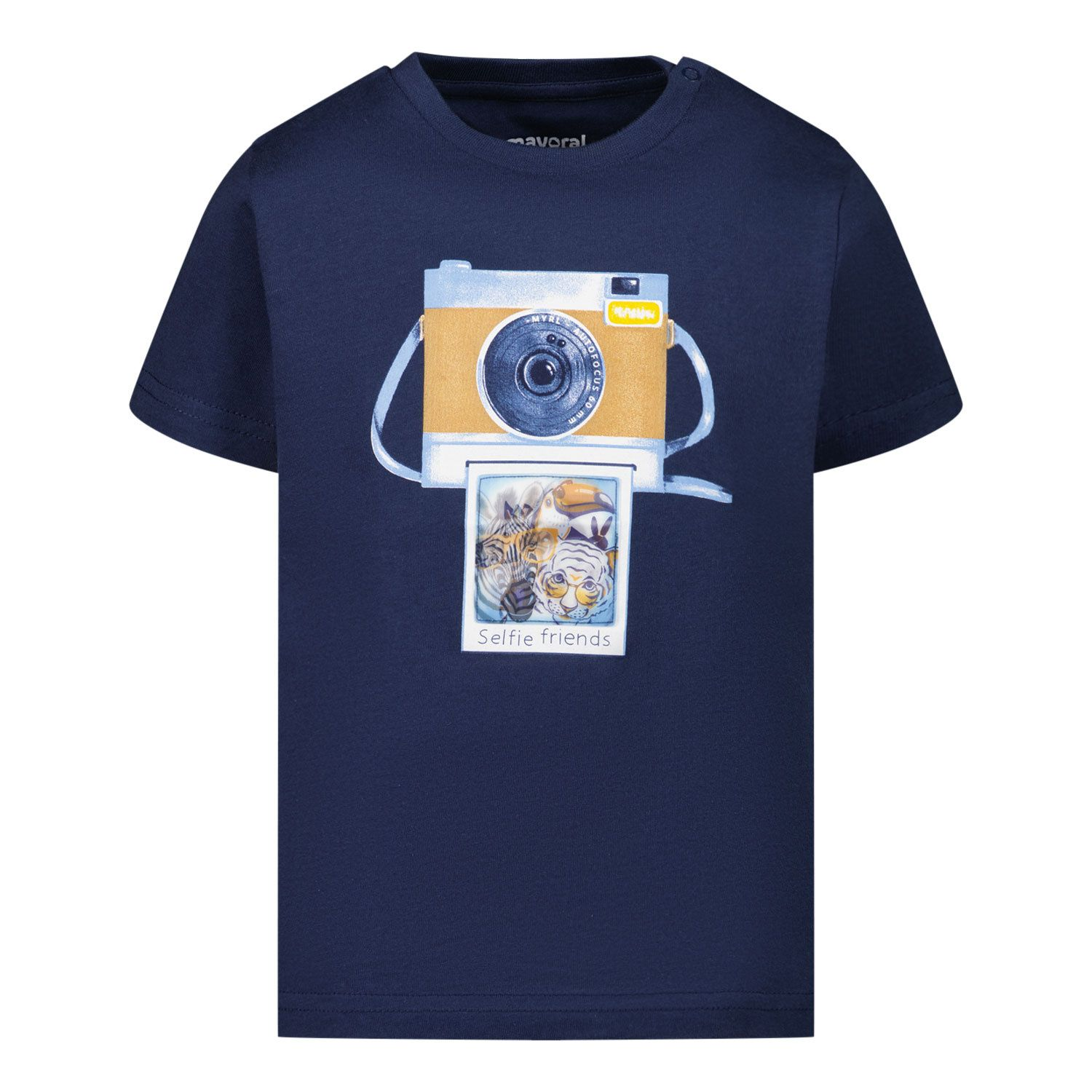 Picture of Mayoral 1003 baby shirt navy