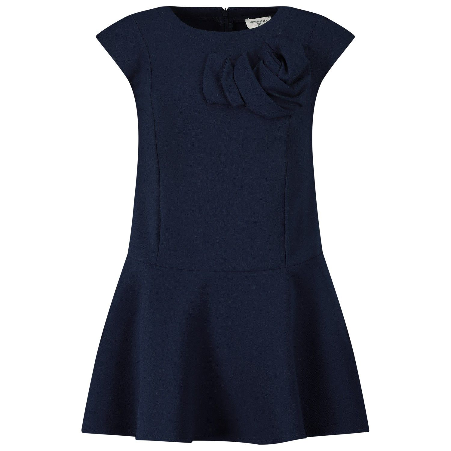 Picture of MonnaLisa 176904F2 kids dress navy