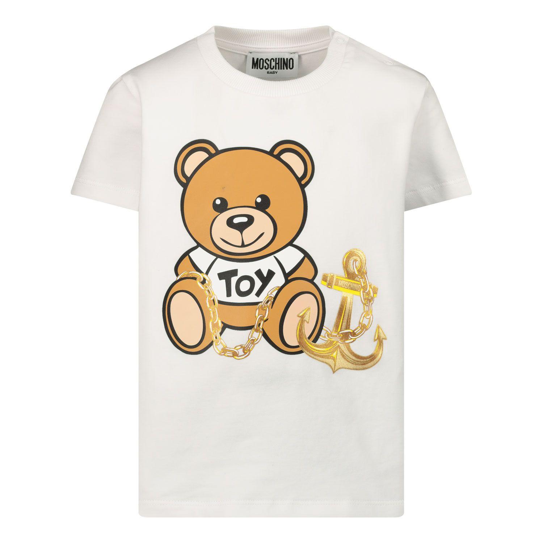 Picture of Moschino MDM02U baby shirt white