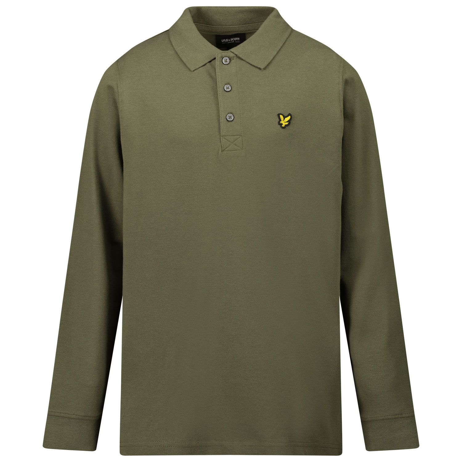 Picture of Lyle & Scott LSC0084S kids polo shirt army