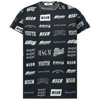 Picture of MSGM 26389 kids t-shirt black