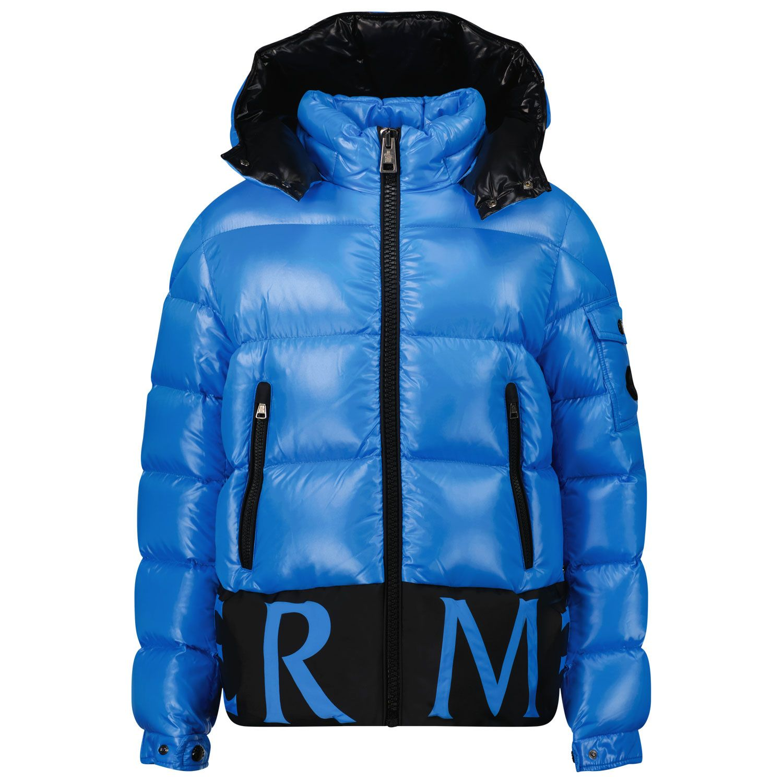 Picture of Moncler 1A55Q20 kids jacket cobalt blue