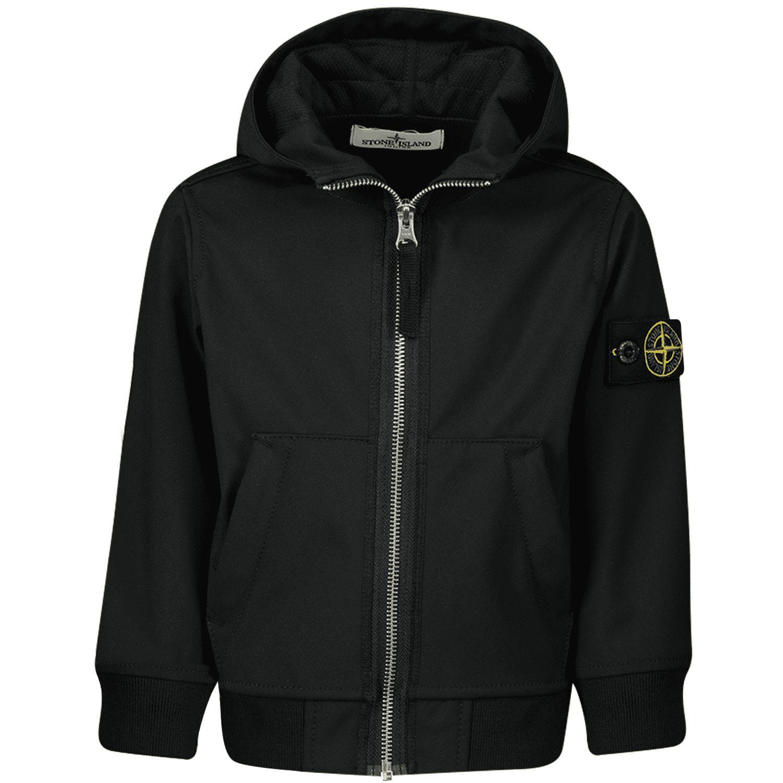 Picture of Stone Island 721640734 kids jacket black