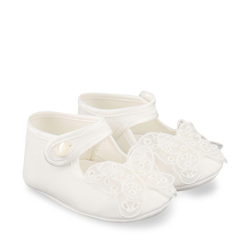 Afbeelding van MonnaLisa 737002 babyschoenen off white