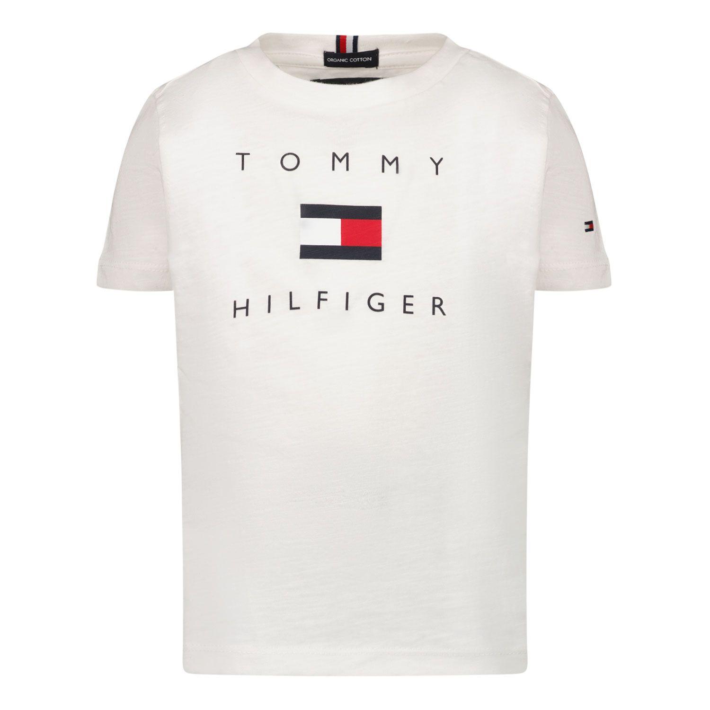 Bild von Tommy Hilfiger KB0KB06523 B Baby-T-Shirt Weiß