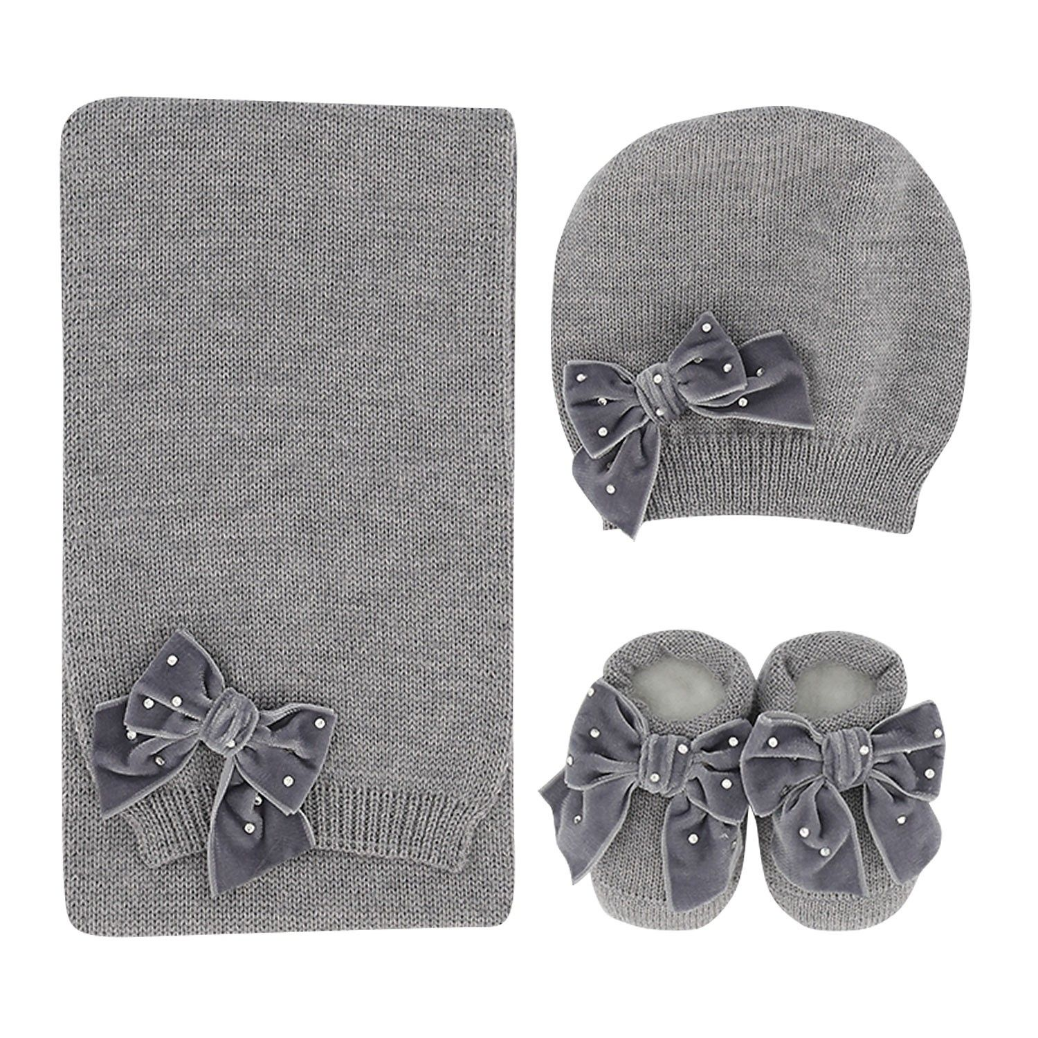 Picture of Story Loris 24011 baby hat grey