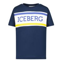 Picture of Iceberg TSICE1105B baby shirt navy