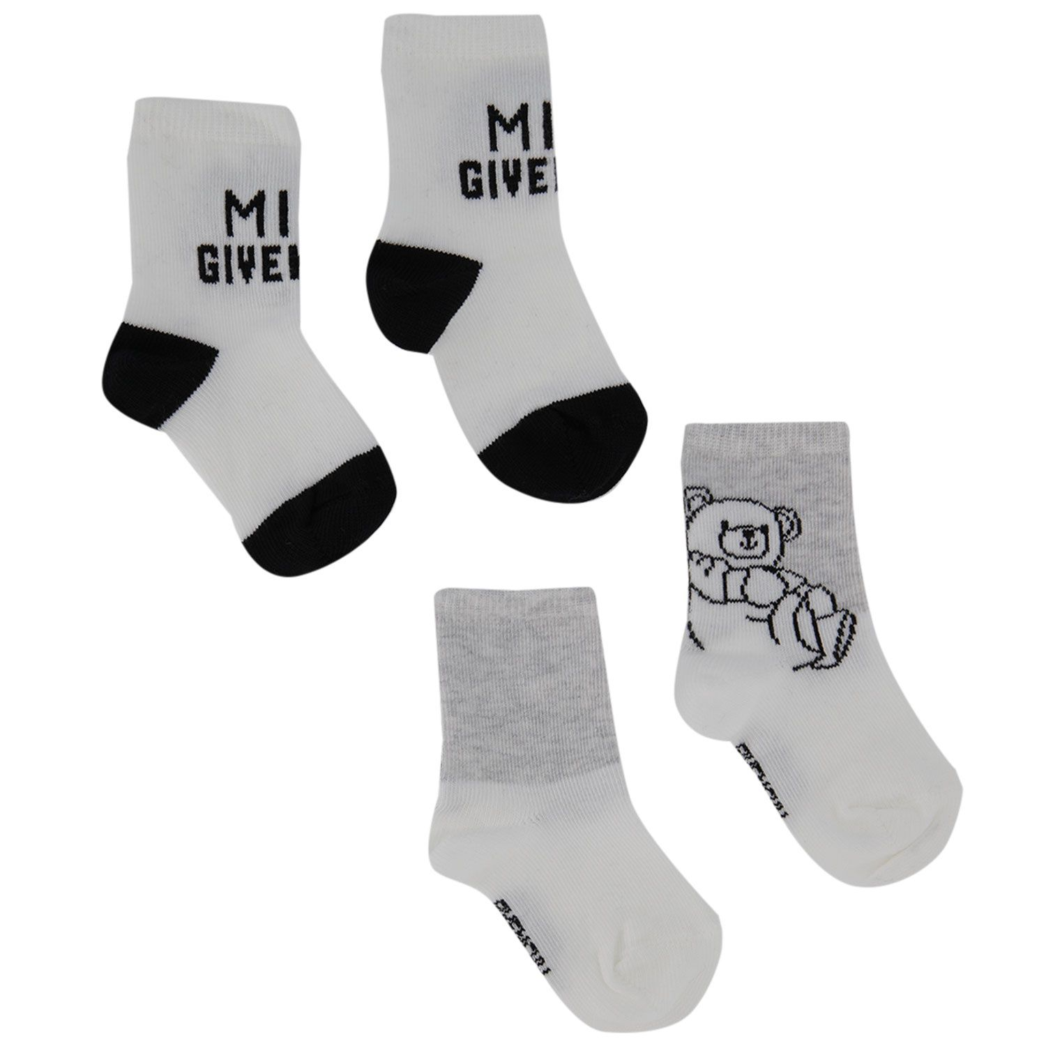 Picture of Givenchy H90068 baby socks white