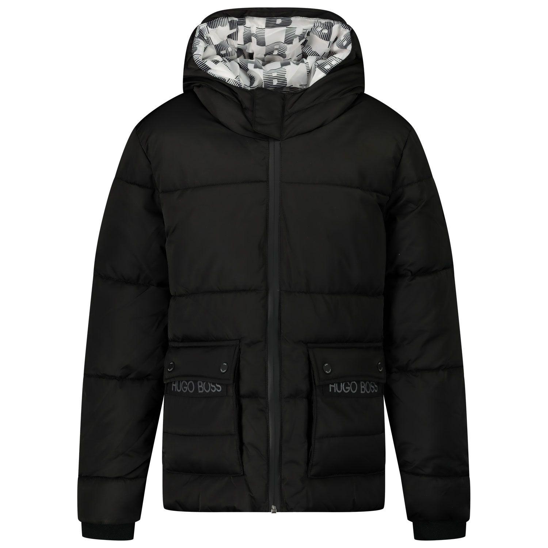 Picture of Boss J26418 kids jacket black