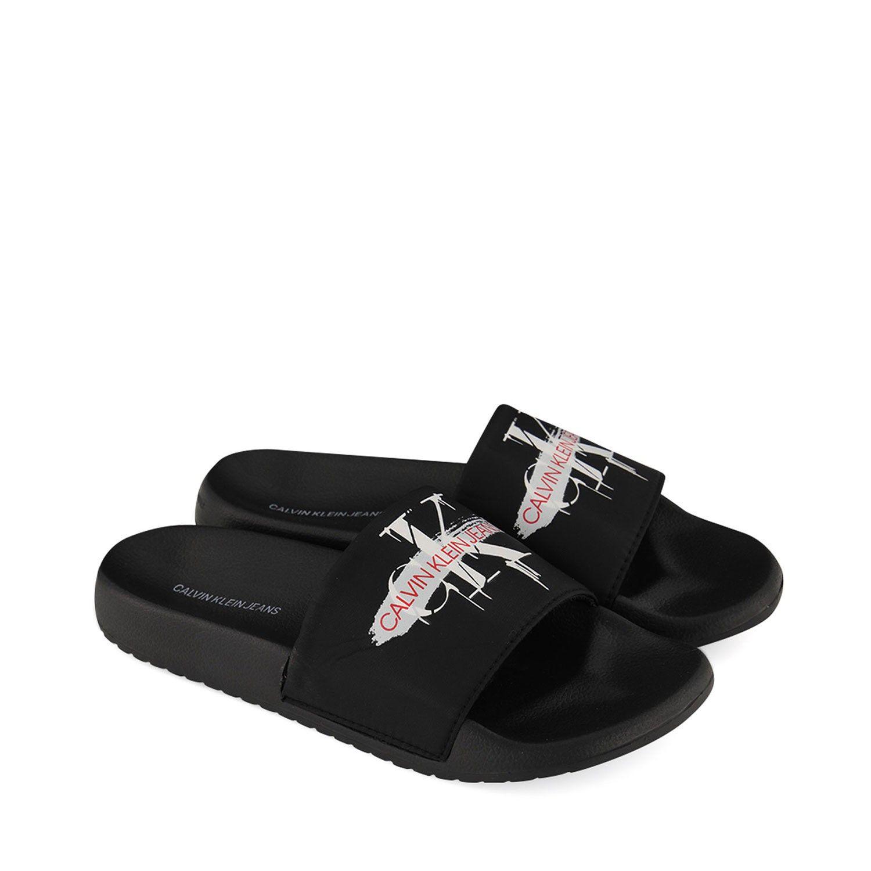 Afbeelding van Calvin Klein CASSIOPEA kinderslippers zwart