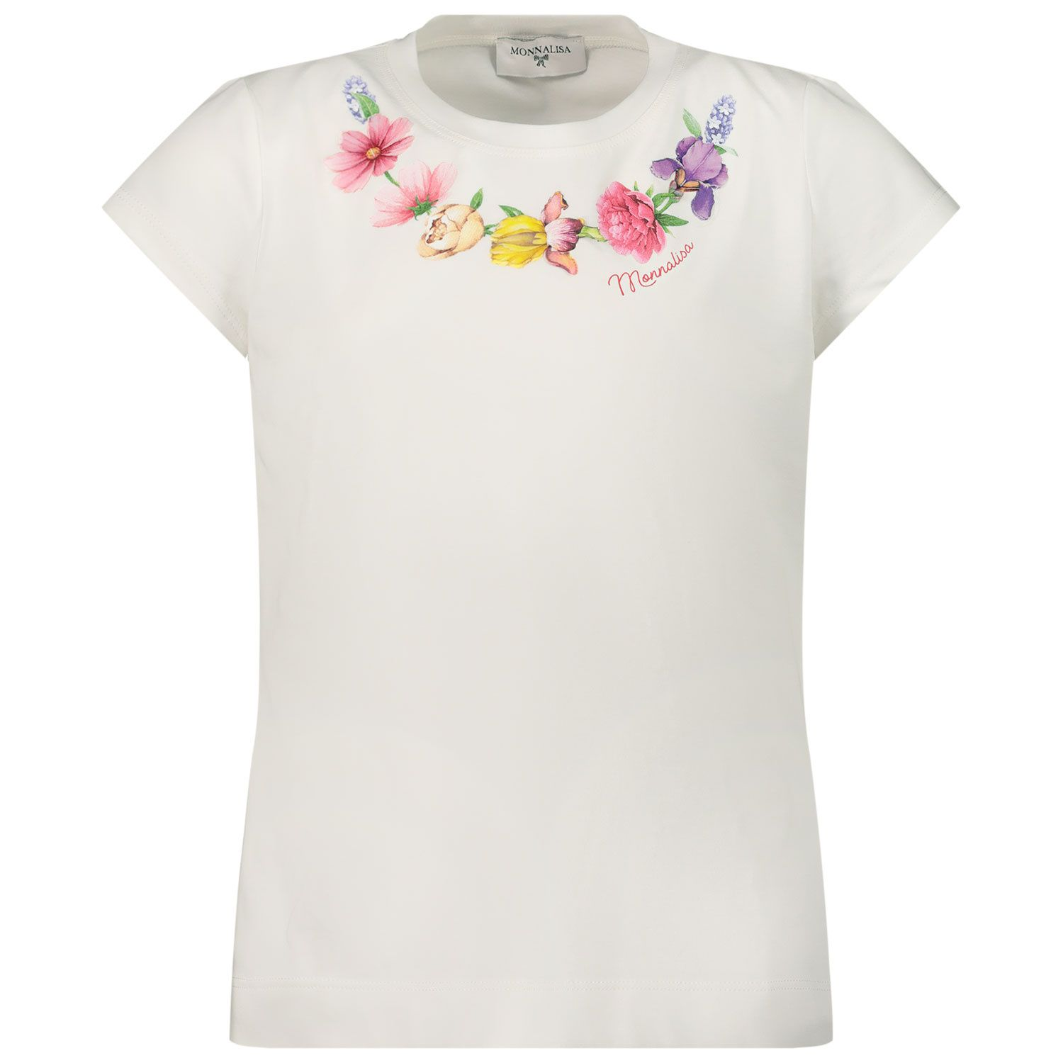 Picture of MonnaLisa 117603S4 kids t-shirt off white