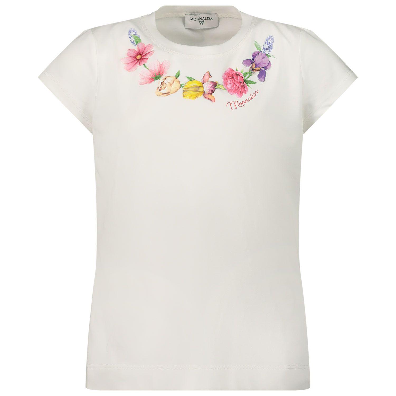 Afbeelding van MonnaLisa 117603S4 kinder t-shirt off white