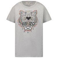 Picture of Kenzo K25113 kids t-shirt light gray
