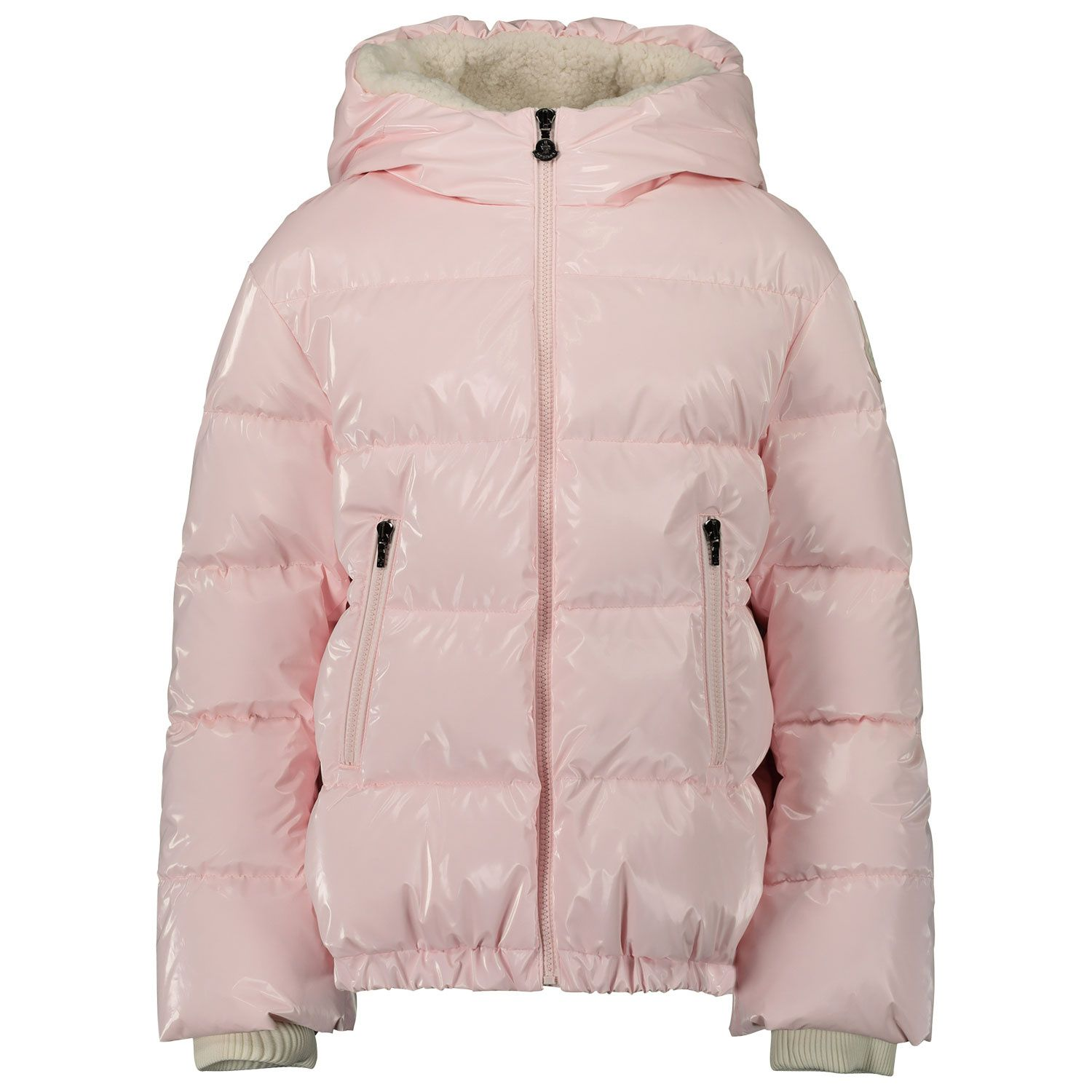 Picture of Moncler 1A55610 kids jacket light pink