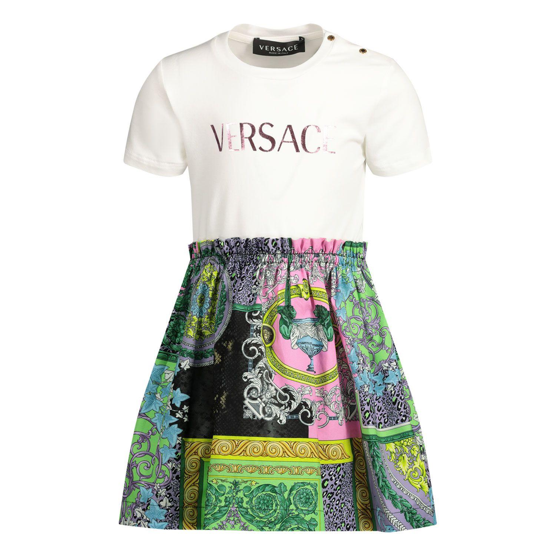 Afbeelding van Versace 1000354 babyjurkje wit/roze