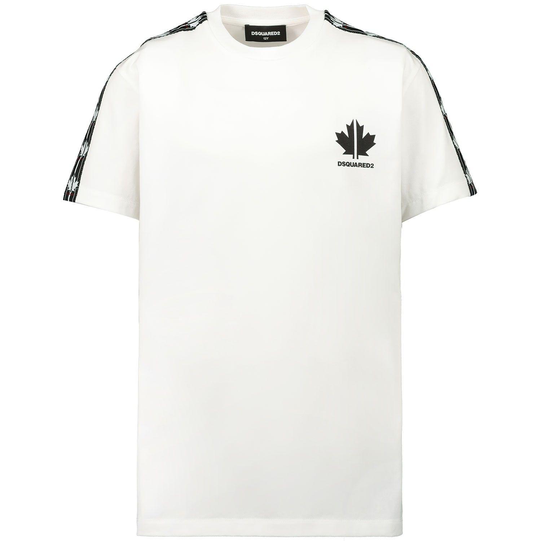 Afbeelding van Dsquared2 DQ048Y kinder t-shirt wit