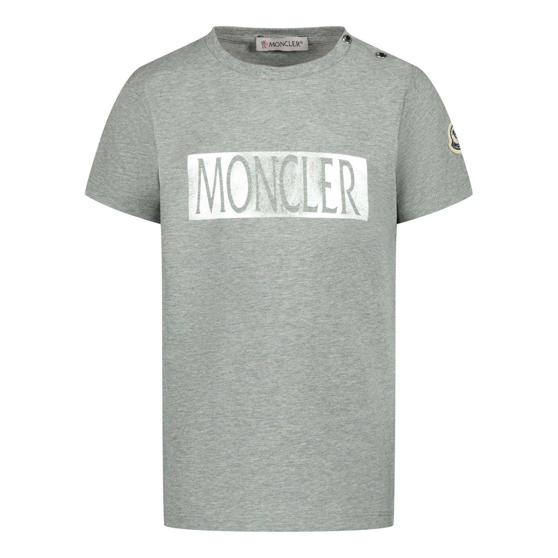 Afbeelding van Moncler 8C71020 baby t-shirt grijs